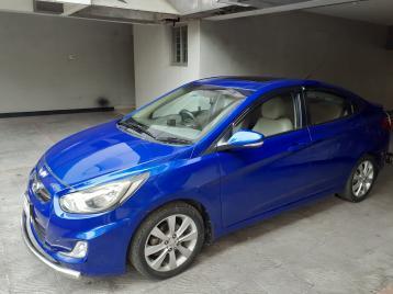 Hyundai Accent GL 2013 Ocean Blue Unique Eye Catchy Color