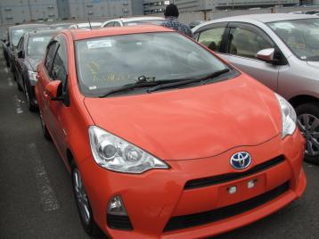 Toyota Aqua S 2014 Key Start Orange Color